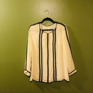 Black & Tan J.Crew Blouse- Size 10
